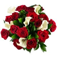 Bouquet of roses and callas - order with worldwide shipping