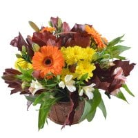 Bouquet Autumn flower basket
