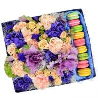 Bouquet Lady\'s happiness