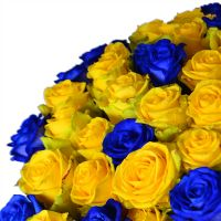 Bouquet 101 yellow-and-blue roses