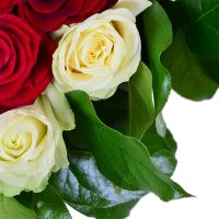 Buy a bouquet «Red-and-white heart» with delivery