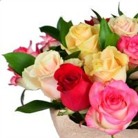 Order bouquet of multicolored roses in our online shop. Delivery!