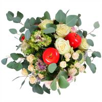 Buy beautiful cream «Apple» bouquet with delivery