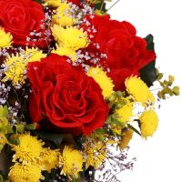 Buy bright bouquet « Red-and-yellow surprise» with delivery