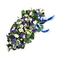 Order bouquet with roses �Blue and white cloud� with delivery