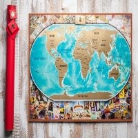 Order Scratch Map: My Vintage Map (in love) with the delivery to any city