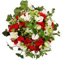 Buy original bouquet ''Red and white love'' with delivery