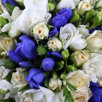 Blue bridal bouquet. gentiana bouquet, stylish bridal bouquet, unusual bridal bouquet