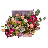 Buy romantiv bouquet �Marsala� with international flower delivery
