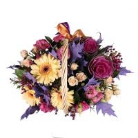 Order a beautiful basket with flowers ''Tender''. Delivery!