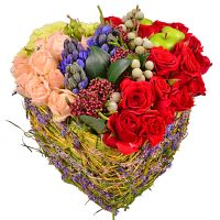 Arrangement «Heart for two» with delivery. Order flowers