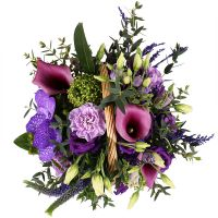 Order beautiful floral basket «Plum dessert» in internet shop. Reliable delivery!