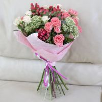 Order romantic bouquet «Pink» in the online shop with delivery