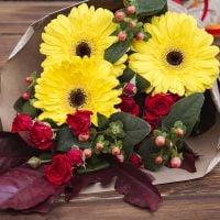 Order original bouquet «Autumn flame» in the online store with delivery