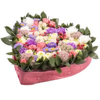 Order alluring heart-shaped floral arrangment «Gentle provence». Delivery!