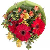 Order the bouquet «Sunset colors» in our online shop. Delivery!
