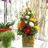 Order the bouquet «Golden flowers» in our online shop. Delivery!