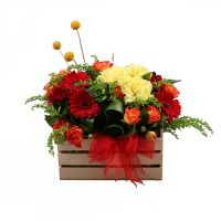 Order the colorful flower composition