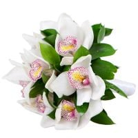 Bouquet White Orchid