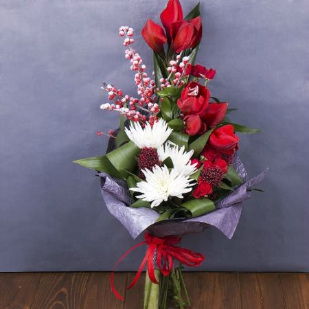 Order the bouquet «Snow-white diamond» in our online shop. Delivery!