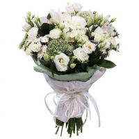 White bouquet for ordering with delivery