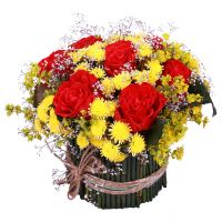 Buy bright bouquet � Red-and-yellow surprise� with delivery