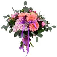Tender bouquet «Pink harmony» order with delivery