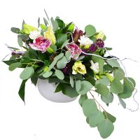 Bright flower bouquet «Malachite» buy in internet-shop