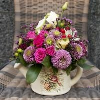 Order the bouquet «Flower tea party» in the UFL online flower store. Delivery!