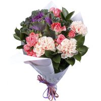 Order bouquet «First kiss» with delivery throughout the world