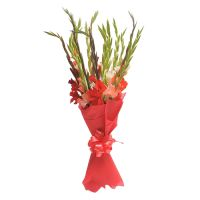To order a bouquet of flowers «Red ribbon» with delivery