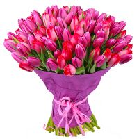 Order bouquet composed from 101 tulips in the internet-shop UFL. Fast delivery!