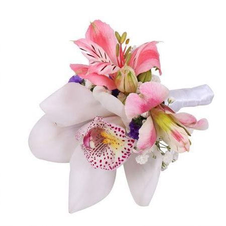 Bouquet Boutonniere of orchids