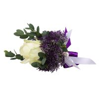 Order a boutonniere ''With rose'' with delivery to any city in Ukraine and worldwide