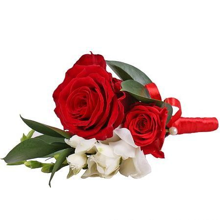 Order a boutonniere ''Red rose'' with delivery to any city in Ukraine and worldwide
