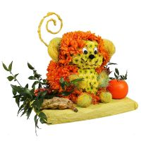 Order flowers for children's birthday «Monkey with Tangerine» with delivery