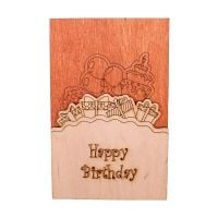 "Product Wooden card ""Happy Birthday\"""