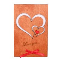 Wooden card LOVE YOU | buy on UFL