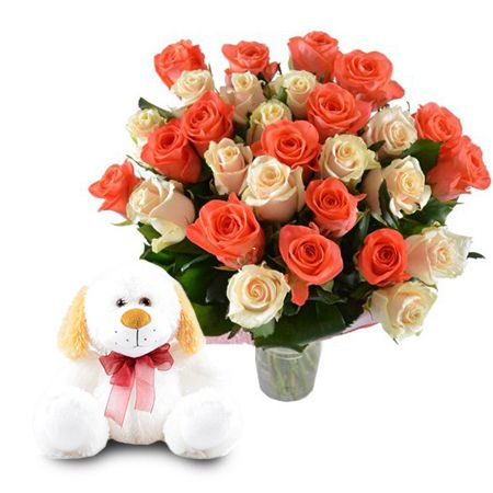 Buy perfect «Soulful gift (roses + toy)» witj the same day delivery