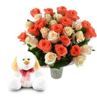 Buy perfect �Soulful gift (roses + toy)� witj the same day delivery
