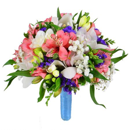 Buy colorful bridal bouquet «Eden» with delivery