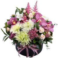 Buy fabulous bouquet «Exotics in a hat» with delivery to any city