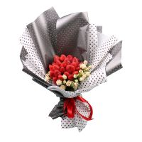 Bouquet From strawberries and roses