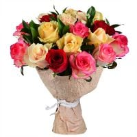 Bouquet Bouquet of multicolored roses