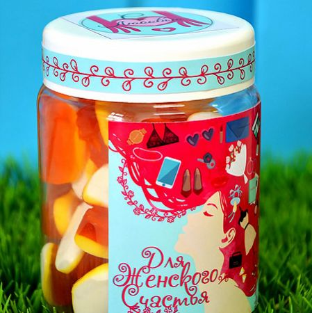 Order jelly sweets �Women Happiness� with delivery to any chosen city of the country.