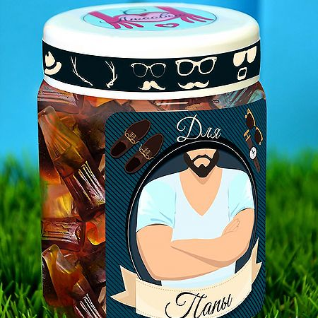 Order delicious jelly sweets for dad in the internet-shop UFL with delivery to any chosen city.