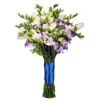 Buy an elegant bouquet of freesia and eustomas. Delivery!