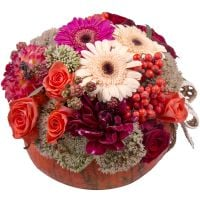 Order unusual floral arrangement �Halloween Surprise� with delivery