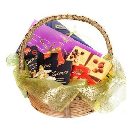 Basket of Chocolate, basket of sweets, basket of candies, sweet gift, order gifl delivery, chocolate