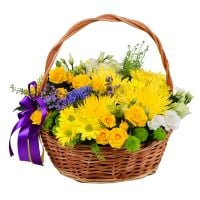 Buy bright bouquet �Basket of sunny flowers� with delivery